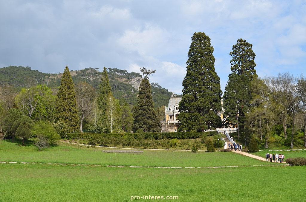 Лужайка перед Массандровским дворцом