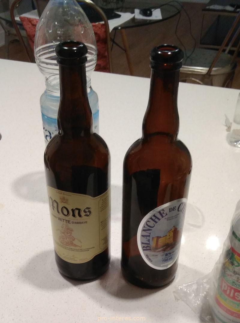 Стеклянные бутылки из-под пива